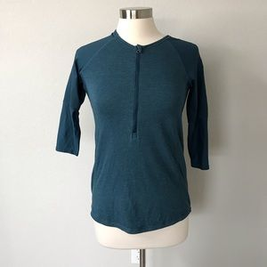 Lululemon spincity pullover teal blue 1/2 zip top